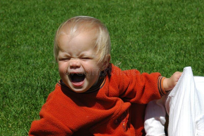 De woedeaanval van de baby royalty-vrije stock foto