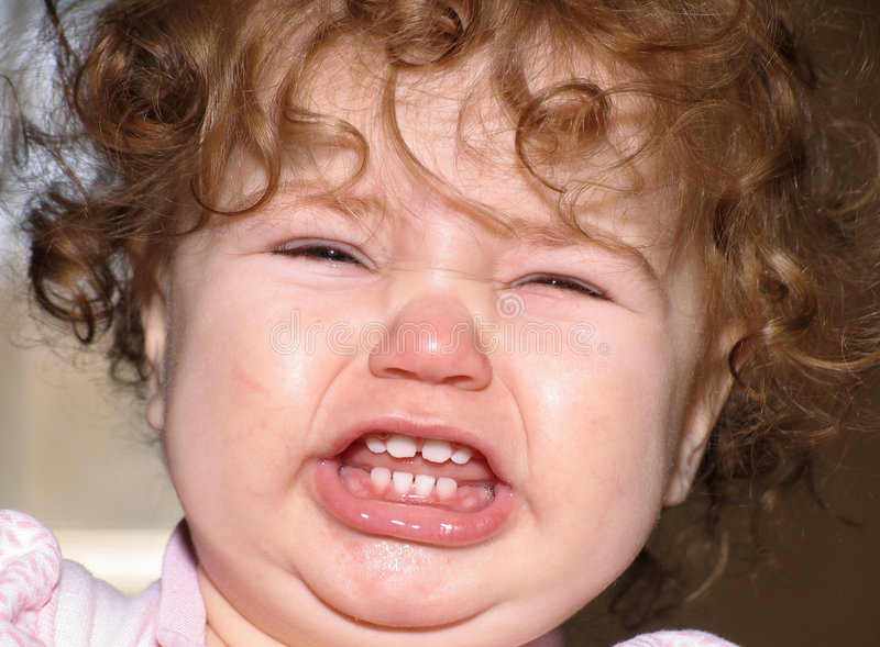 De woedeaanval van de baby stock foto