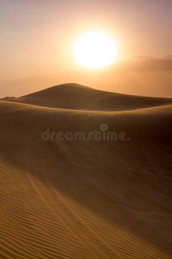 De Woestijn Al Madam van Doubai stock afbeeldingen