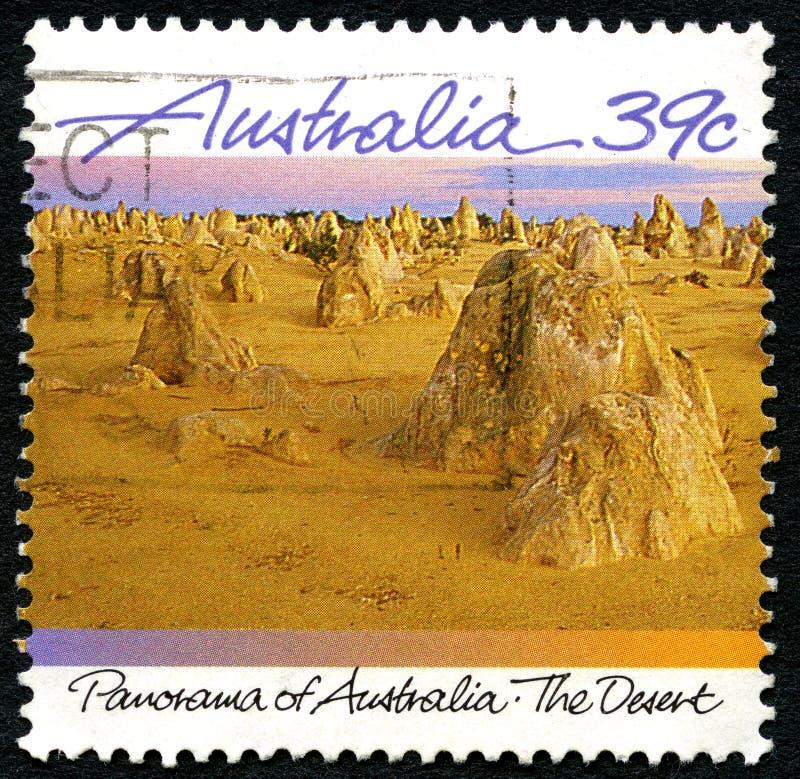 De Woestijn Australische Postzegel royalty-vrije stock foto's