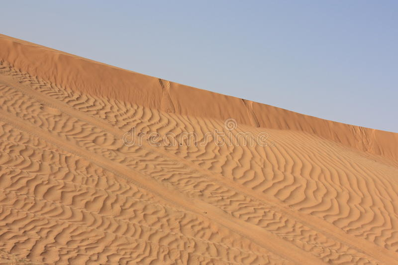 De woestijn en de safari van het zand stock afbeelding