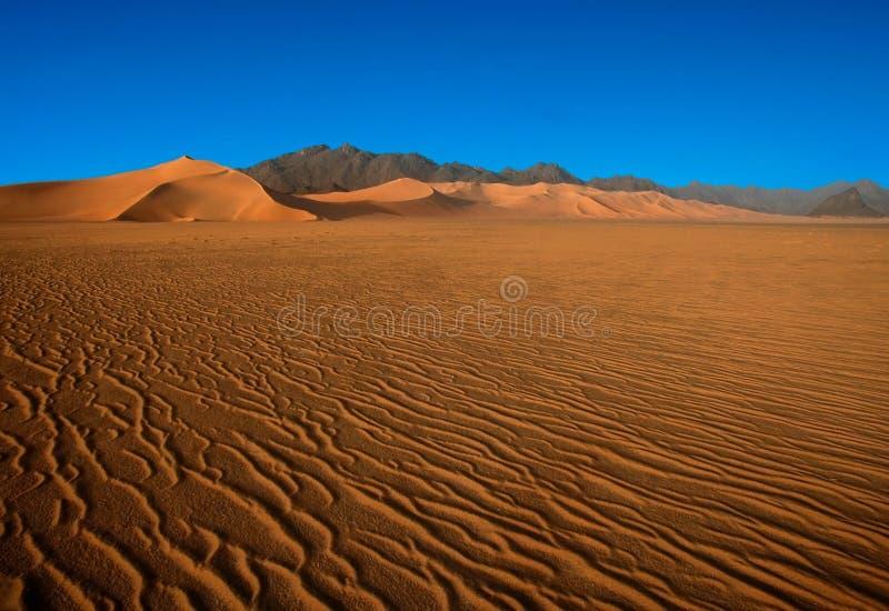 De woestijn ontmoet de bergen royalty-vrije stock afbeelding