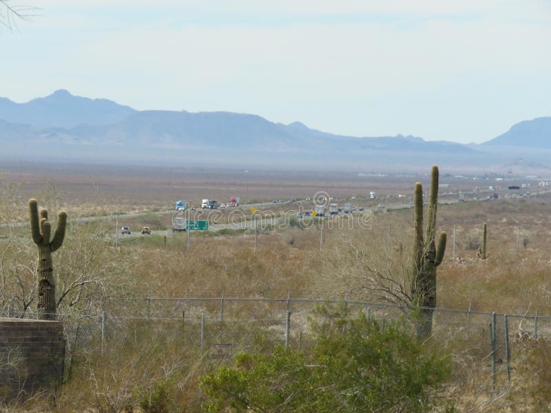 De woestijn van Arizona royalty-vrije stock foto