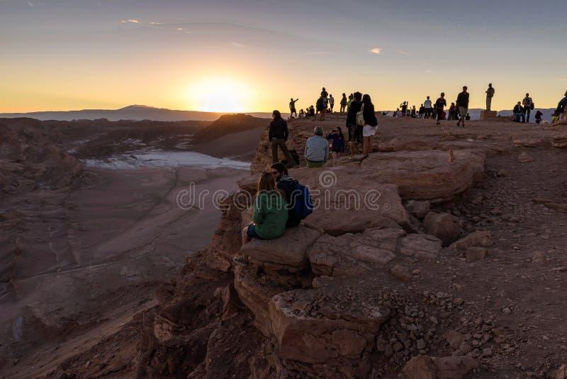 De woestijn van Atacama in Chili royalty-vrije stock fotografie