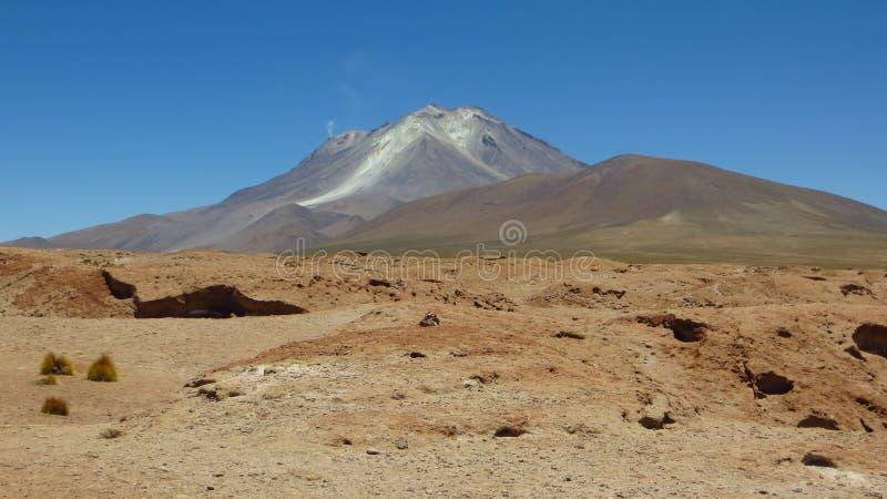 De woestijn van Bolivië, grens met Chili royalty-vrije stock foto's