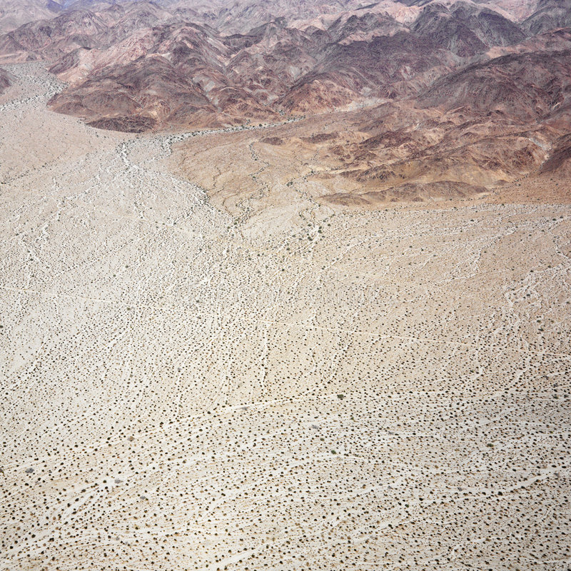 De woestijn van Californië royalty-vrije stock afbeelding