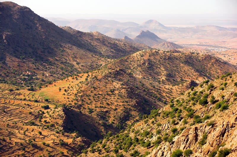 De woestijn van de berg in Marokko royalty-vrije stock afbeeldingen