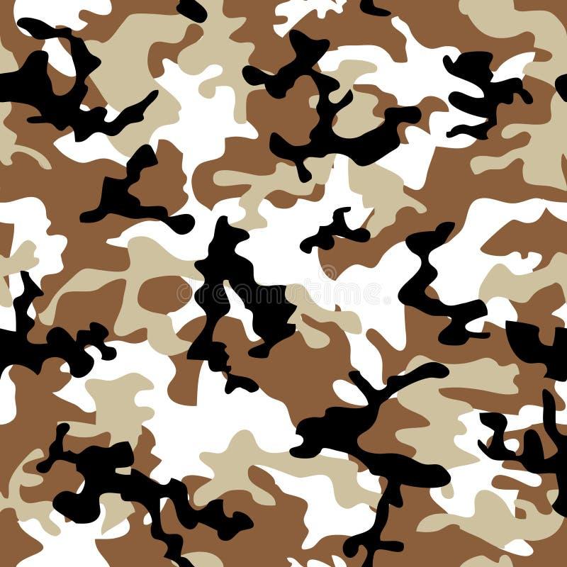De woestijn van de camouflage stock illustratie