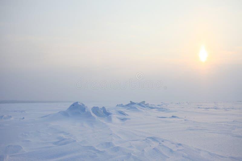De woestijn van de ijssneeuw royalty-vrije stock foto