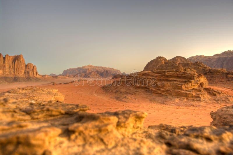 De woestijn van de Rum van de wadi royalty-vrije stock fotografie