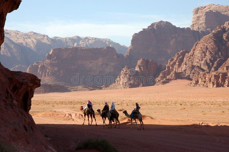 De Woestijn van de Rum van de wadi, Jordanië stock foto