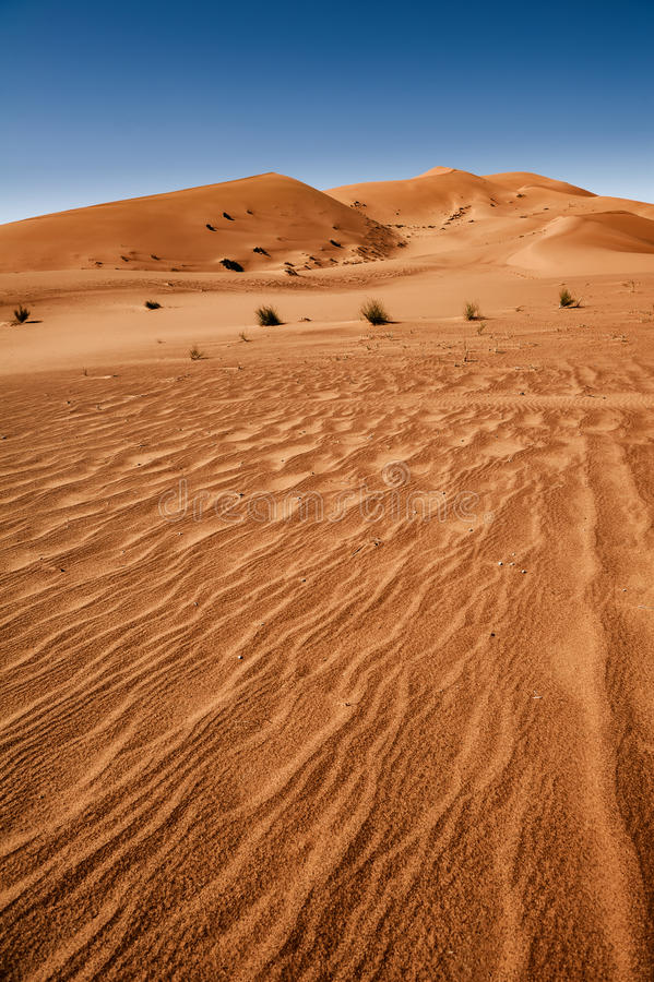 De woestijn van de Sahara, Erg Chebbi royalty-vrije stock afbeeldingen