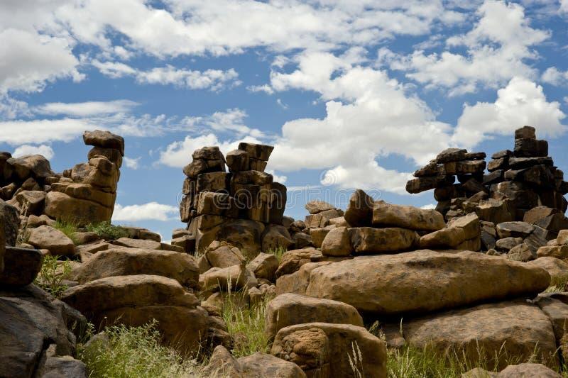De Woestijn van de steen in Namibië stock afbeeldingen
