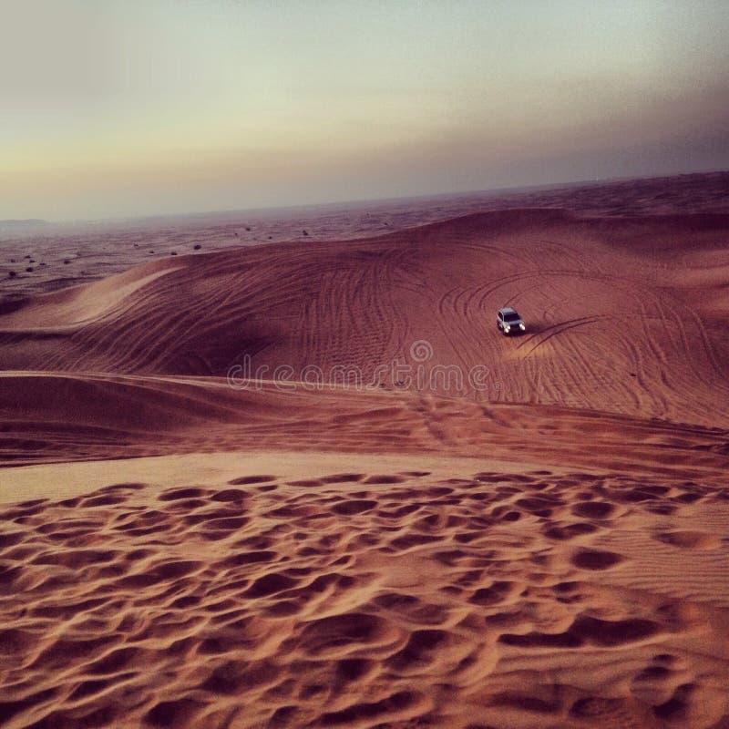 De woestijn van Doubai royalty-vrije stock afbeeldingen
