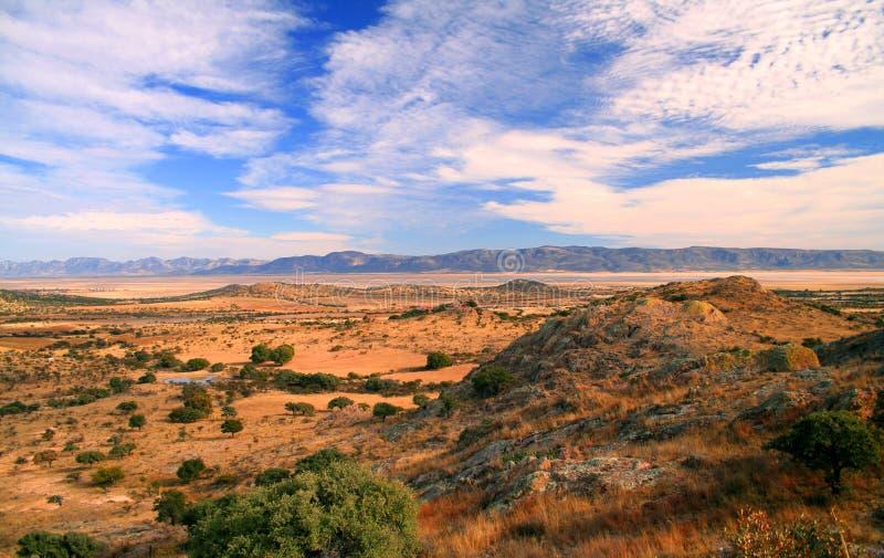 De woestijn van durango stock afbeeldingen