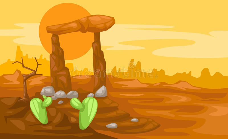 De woestijn van het landschap vector illustratie