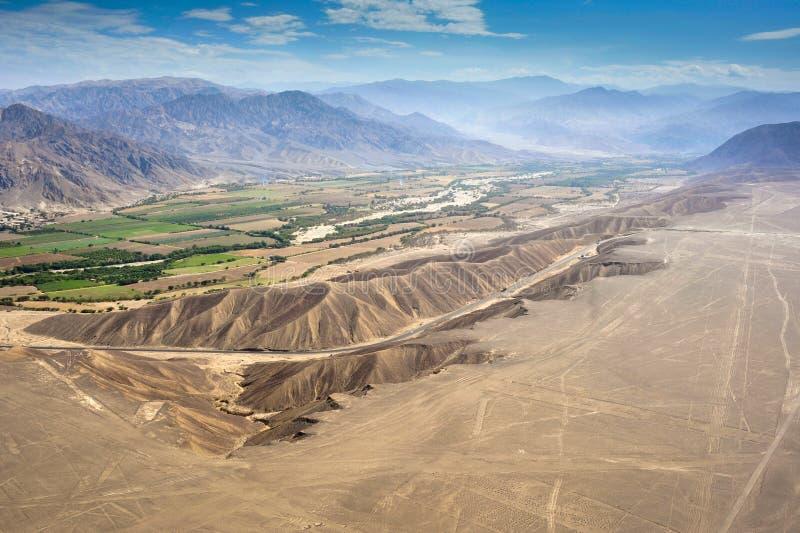De woestijn van Nazca in Peru royalty-vrije stock foto