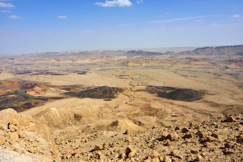 De Woestijn van Negev stock afbeelding