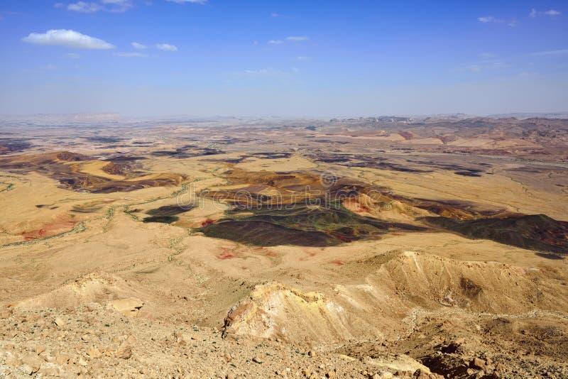 De Woestijn van Negev stock afbeeldingen