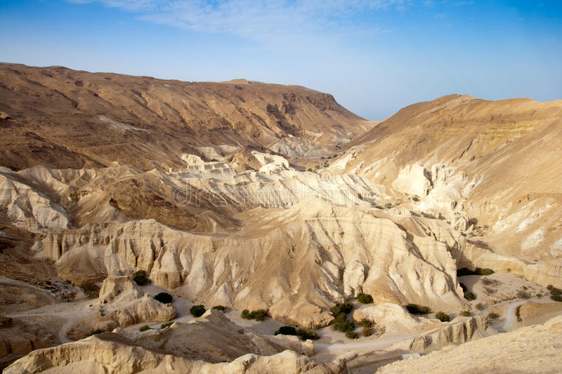 De woestijn van Negev - Israël stock afbeeldingen
