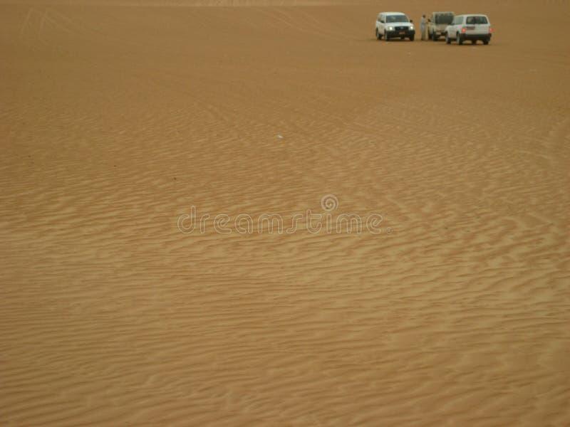 De woestijn van Oman bij zonsondergang in de Wahiba-zandwoestijn royalty-vrije stock afbeelding