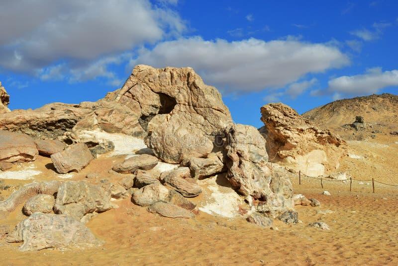 De Woestijn van de Sahara, Egypte stock foto's