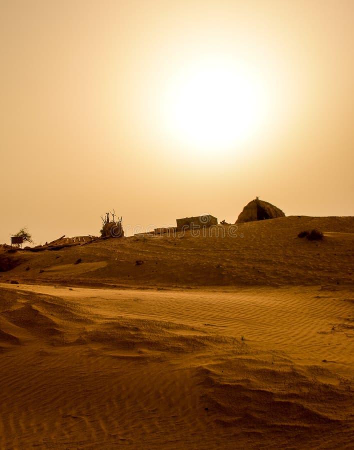 De woestijn van Thar in India stock afbeeldingen