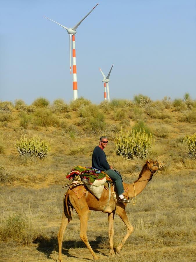 De woestijn van Thar vormt een natuurlijke grens tussen India en Pakistan royalty-vrije stock afbeelding