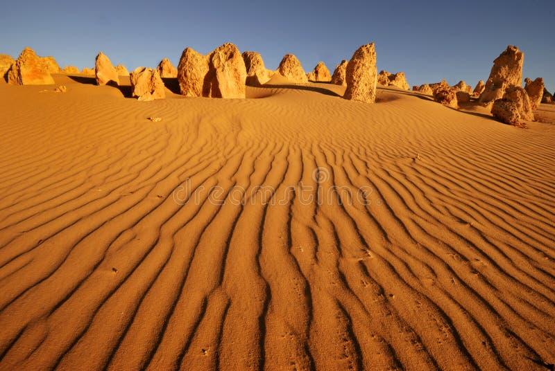 De woestijn van toppen stock foto's