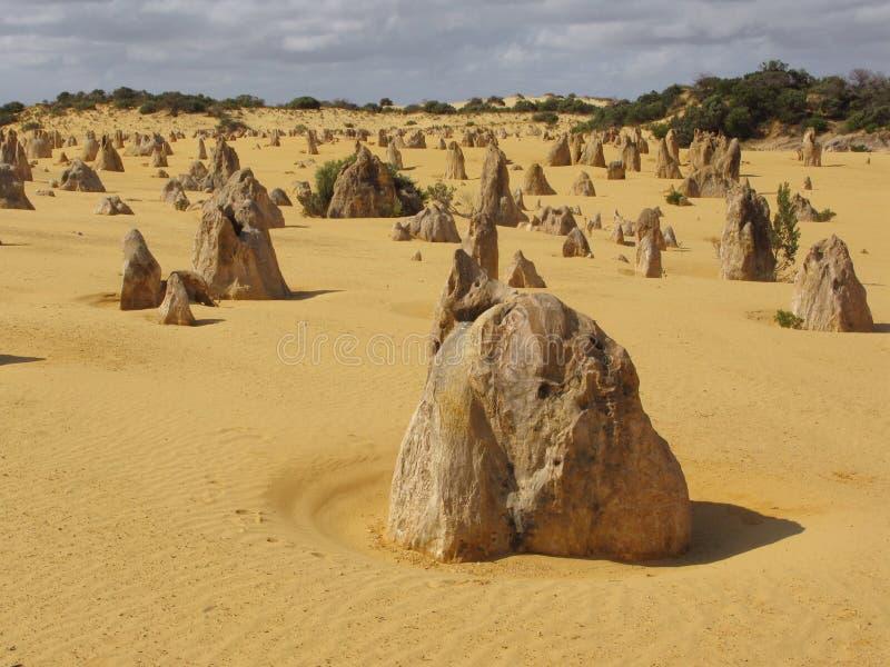 De woestijn van toppen stock fotografie