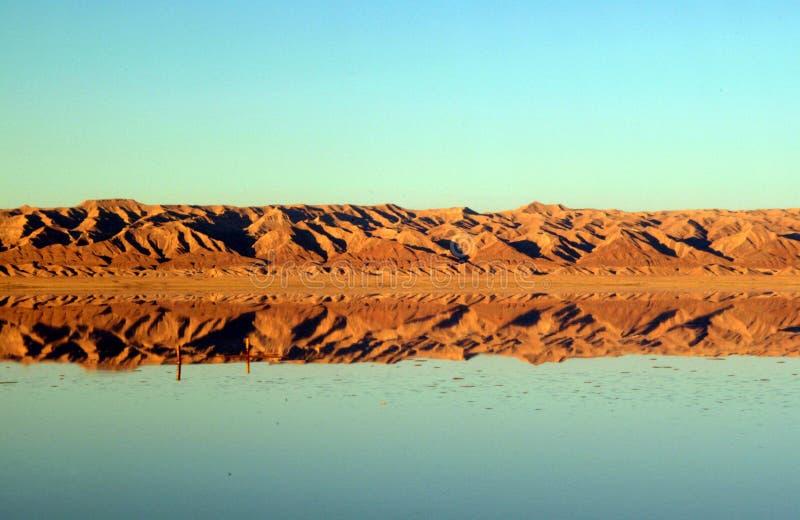 De woestijn van Tunesië stock afbeeldingen