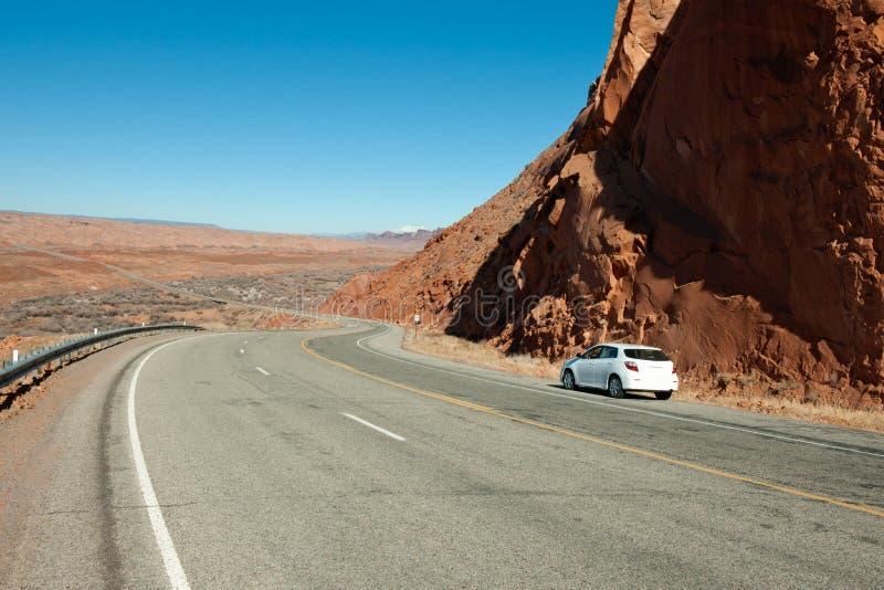 De woestijnweg van Arizona royalty-vrije stock fotografie