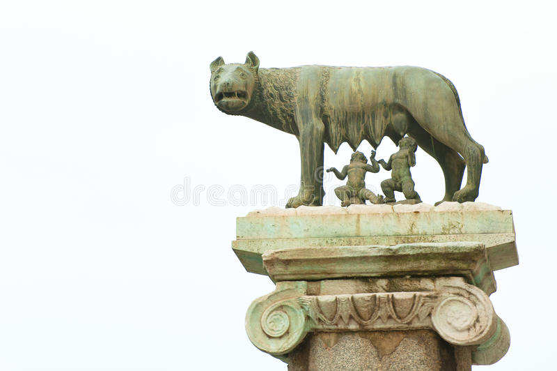 De wolf van Rome stock foto's