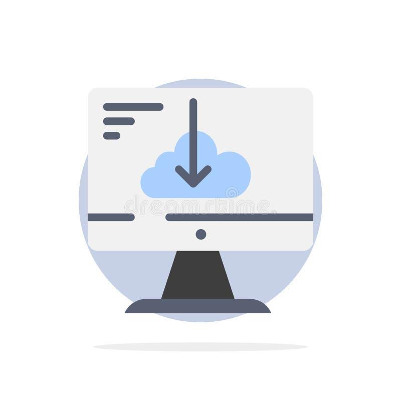 De wolk, Download, Bestuurder, installeert, van de Achtergrond installatie Abstract Cirkel Vlak kleurenpictogram royalty-vrije illustratie