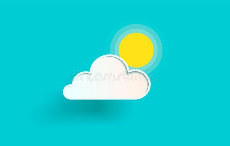 De wolk en de zon stock illustratie