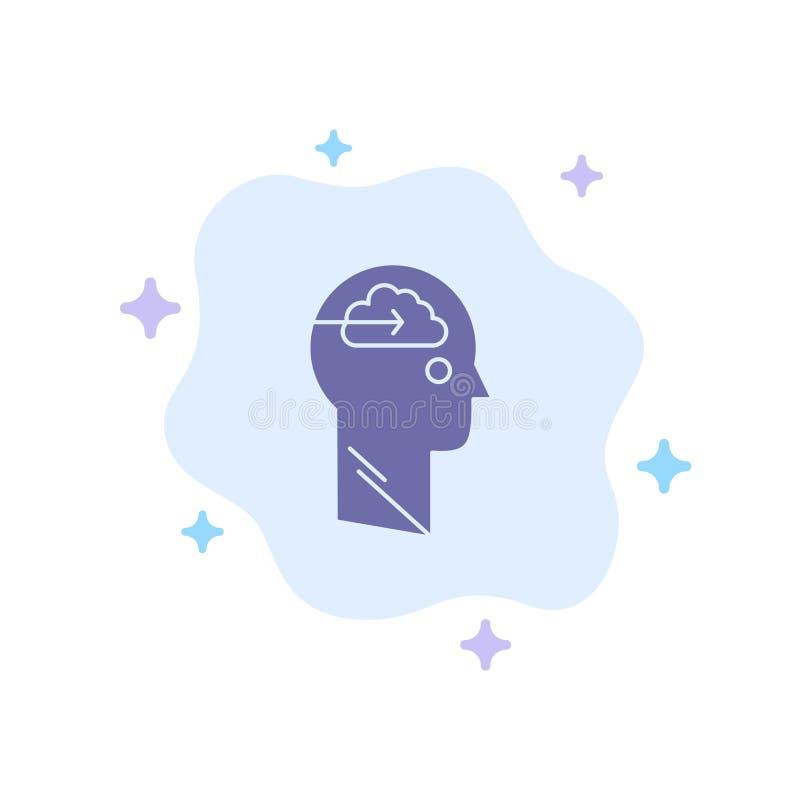 De wolk, Update, Download, uploadt, Gebruikers Blauw Pictogram op Abstracte Wolkenachtergrond stock illustratie