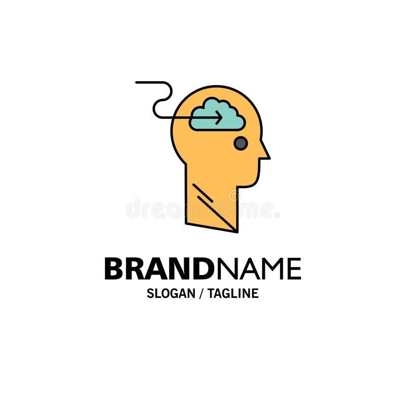 De wolk, Update, Download, uploadt, Gebruikerszaken Logo Template vlakke kleur royalty-vrije illustratie
