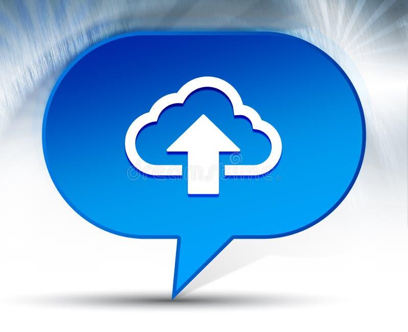 De wolk uploadt achtergrond van de pictogram de blauwe bel royalty-vrije illustratie