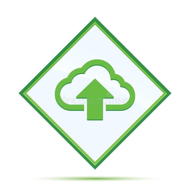 De wolk uploadt knoop van de pictogram de moderne abstracte groene diamant vector illustratie