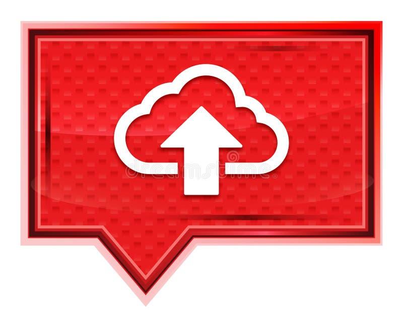 De wolk uploadt nevelig pictogram toenam roze bannerknoop royalty-vrije illustratie