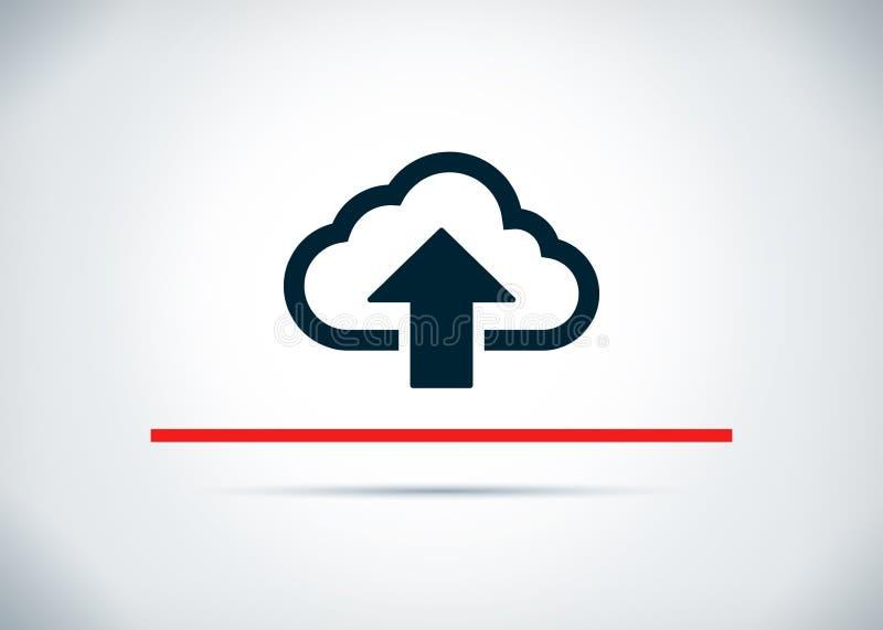 De wolk uploadt pictogram abstracte vlakke achtergrondontwerpillustratie vector illustratie