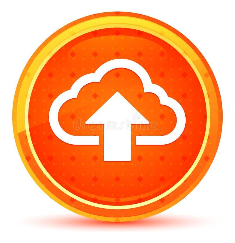 De wolk uploadt pictogram natuurlijke oranje ronde knoop royalty-vrije illustratie