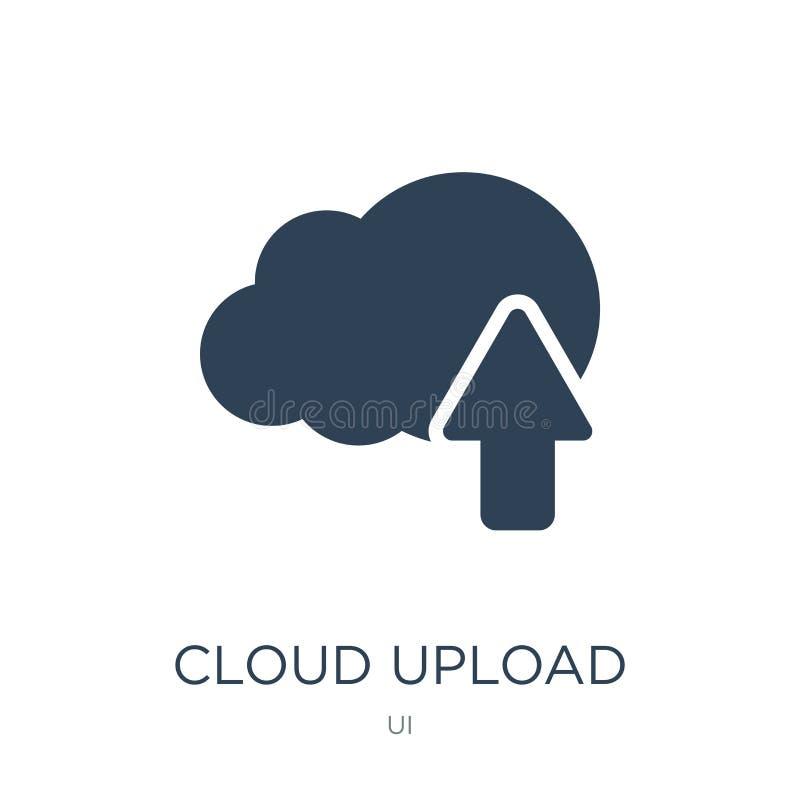 de wolk uploadt pictogram in in ontwerpstijl De wolk uploadt pictogram op witte achtergrond wordt geïsoleerd die de wolk uploadt  royalty-vrije illustratie