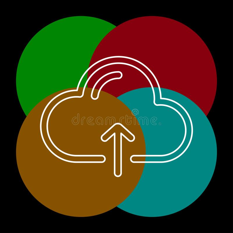 De wolk uploadt vectorpictogram stock illustratie