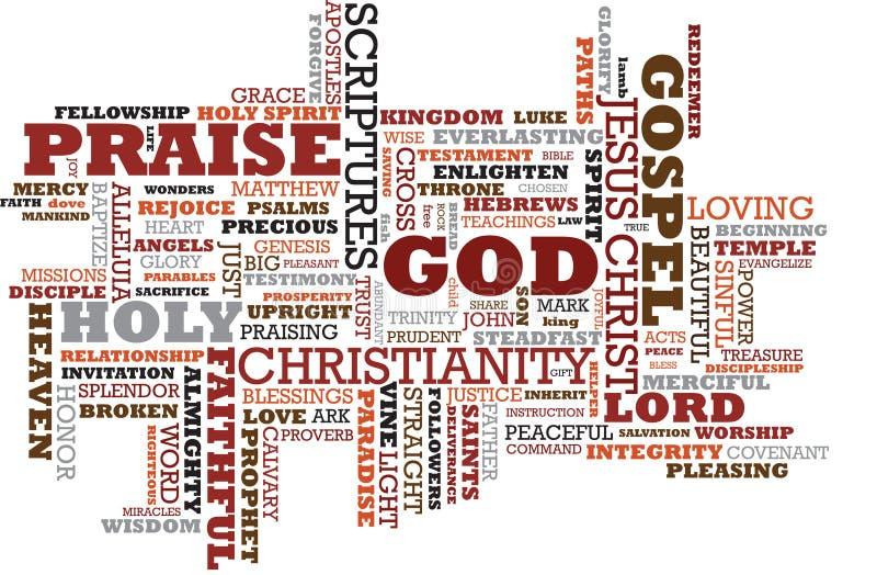 De Wolk van Christus stock illustratie