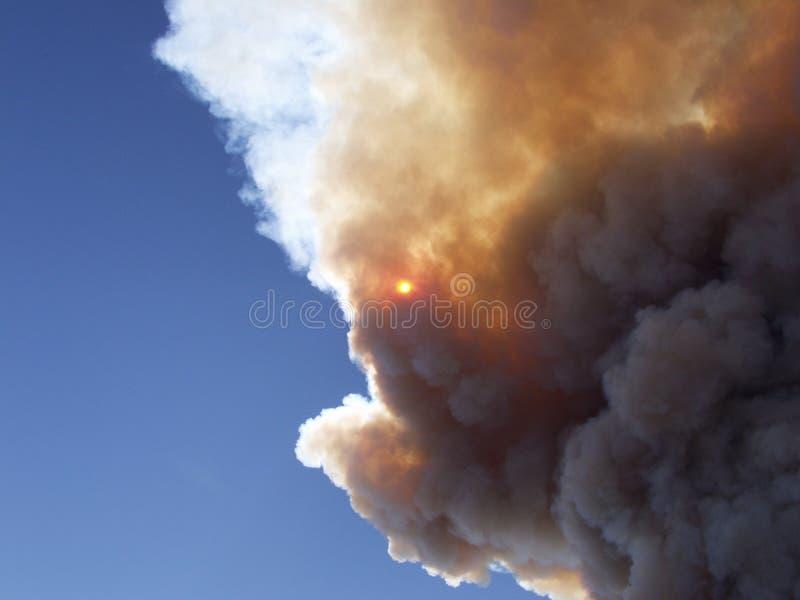 De wolk van de brand stock foto