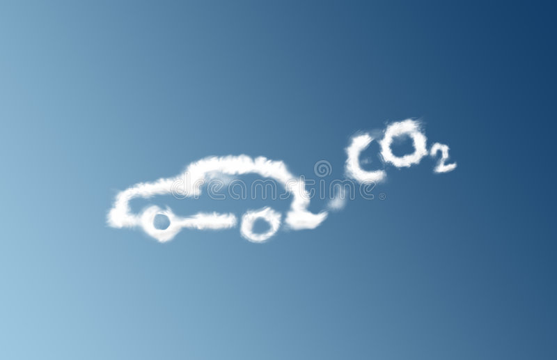 De wolk van de de autoemissie van Co2