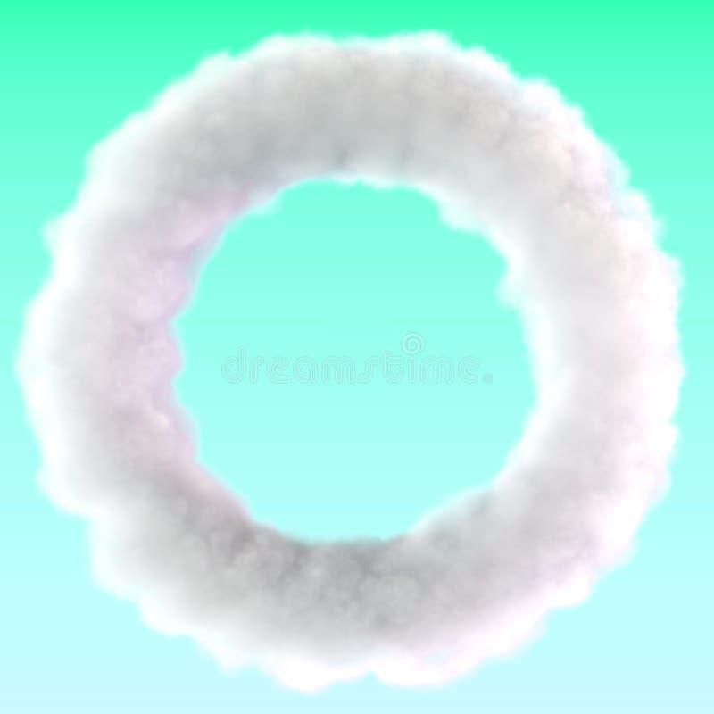 De wolk van de doughnutcirkel stock illustratie
