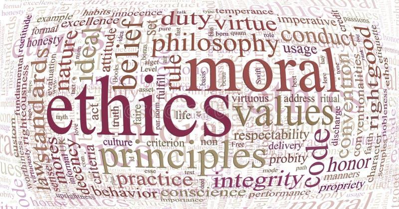 De wolk van de ethiek en van het principeswoord royalty-vrije illustratie