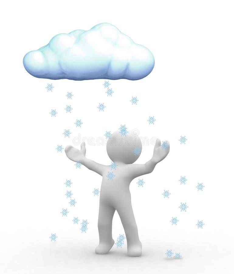 De wolk van de sneeuw stock illustratie